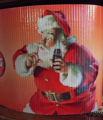 Vintage Store Display Coca Cola Advertising Christmas Santa Claus White Dog Roll