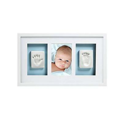 Pearhead Babyprints Newborn Baby Handprint and Footprint Deluxe Wall Keepsake Fr