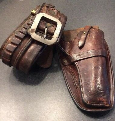 Vintage Shelton-Payne Double Marked Holster & Cartridge Money Belt Patented