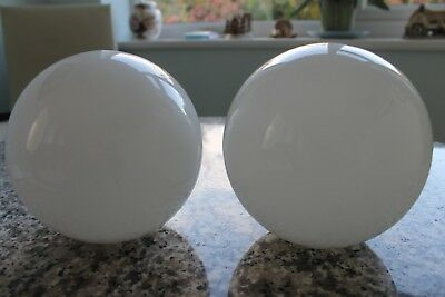 Two  Vintage  Globe   Glass  Lamp  Shades
