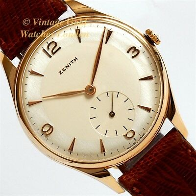 Zenith Classic, 18Ct Pink Gold, Two-Tone Dial, 1954 - Stunning And Immaculate!