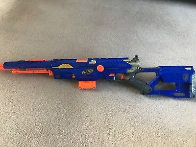 Nerf gun -  Longstrike CS-6 Sniper Rifle Toy Gun + Barrel Extension
