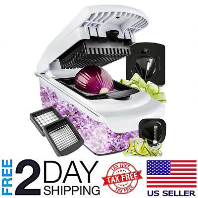 Vegetable Chopper Spiralizer Slicer Dicer Onions Kitchen Pro Tools Food Cutter