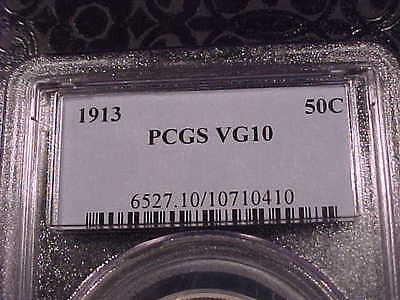 PCGS  VG-10 1913-p Barber Half Dollar   Low Mintage #