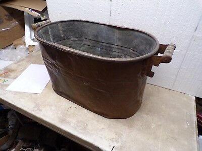 Old Copper Laundry Wash Boiler Tub Flower Pot Garden Planter