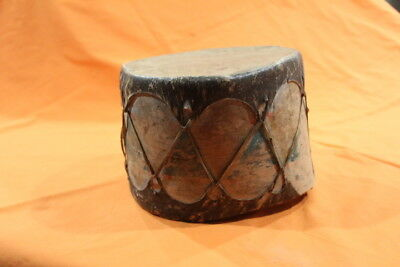 Native American Indian Northern Plains Painted Drum