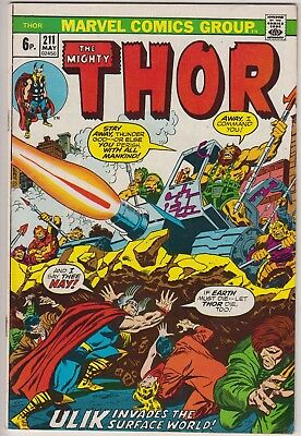 "Thor 211 - ""Ulik Invades the Surface World!"". Bronze age pence issue"