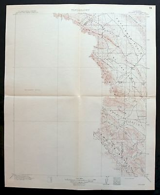 1914 Cholame California Avenal Antique 30-minute USGS Topographic Topo Map
