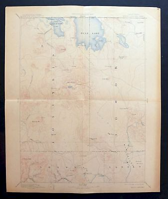 1892 Modoc Lava-bed California Tulelake Antique USGS Reconnaissance Topo Map