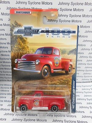 Matchbox 1947 Chevrolet Pickup Truck 100Th Anniversary Edition Walmart Red Mip