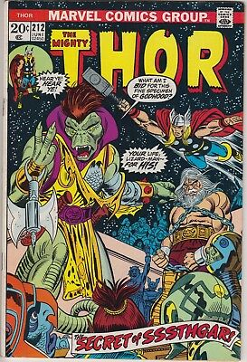 "Thor 212 - ""The Secret of Sssthgar!"". Bronze age cents issue"