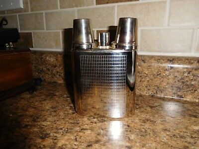 Vintage 2 Cup Metal Chrome West Germany made Flask BO