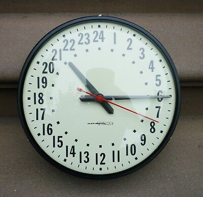 Vintage National Time Military Wall Clock