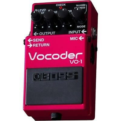 BOSS VO-1 Vocoder Guitar and Base Effects Pedal EMS w/ Tracking NEW