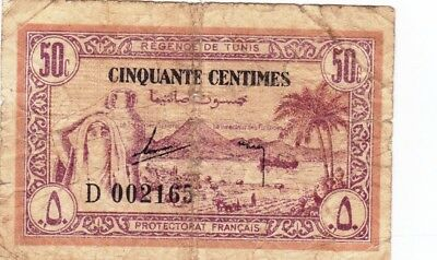 Currency Selection, Tunisia 50 Centimes