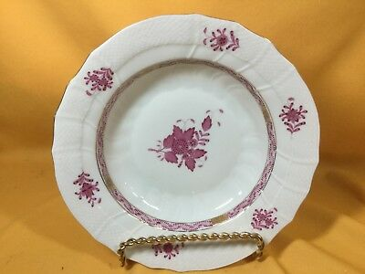 "Herend ""Chinese Bouquet"" Pink Rim Soup Bowl - 9 1/2"""