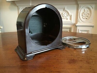 Vintage Bakelite. Smith`s Mantel Clock Casing & Dial Back Plate. Military Clock.