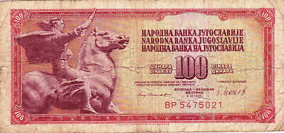 Currency Selection, Yugoslavia, 100 Dinera