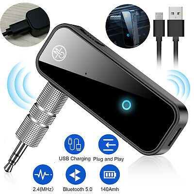 Bluetooth USB Receiver Music Audio Stereo Dongle 3.5mm AUX Adapter Car Speaker