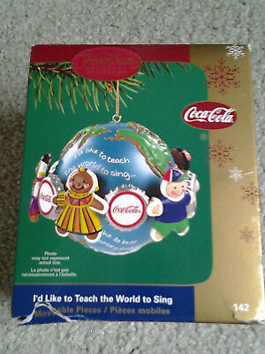 Carlton Coca Cola Children  I'd Like To Teach The World To Sing Boxed Ornament