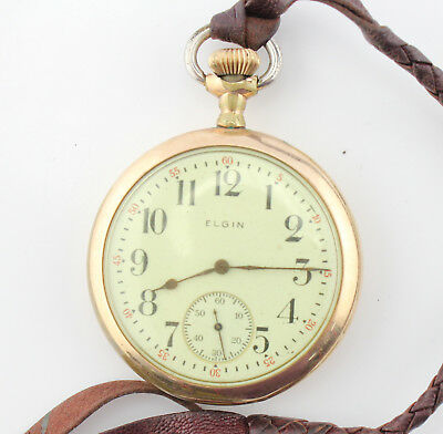Elgin Pocket Watch Antique Size 16 Ticking 15J Nice Dial No Reserve #3474-10
