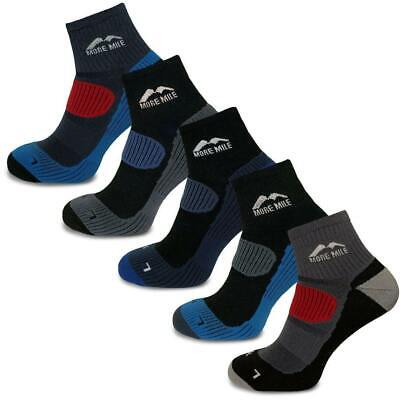 More Mile Cheviot 5 Pair Pack Cushioned Running Sports Socks Padded Mens Womens