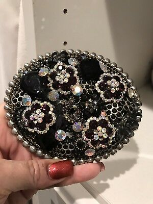 Parw buckles large Western Belt Buckle with purple crystals