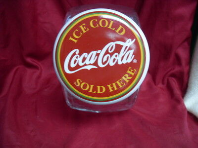 """Ice Cold Coca Cola Sold Here"" Coke Glass Candy Jar Canister Porcelain Lid #2387"
