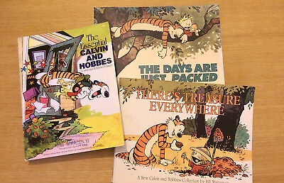 Calvin And Hobbes Job Lot 3 Books Treasure Everywhere Days are Just Packed Comic