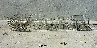 Vintage Industrial Wire Gym Swimming Pool Baskets - Lot of 5