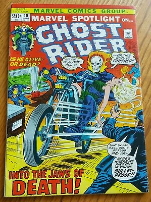 MARVEL SPOTLIGHT ON GHOST RIDER #10(6/73) *KEY ISSUE>COOL MOTORCYCLE-c *VF/NM