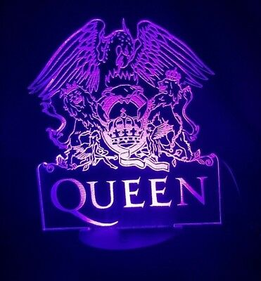 Queen  Acrylic Engraved LED lamp