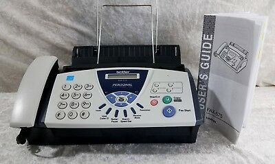 Brother Fax Machine - 575 Personal Plain Paper Fax Phone and Copier Nice
