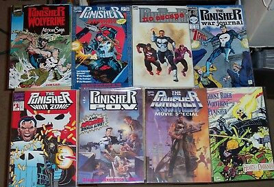 The Punisher Marvel Comics 9 Issue Lot Frank Castle Wolverine Ghost Rider