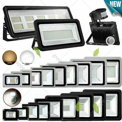 LED Floodlight 10/20/30/50/100W PIR  Motion Security IP65 Flood Light cool/warm