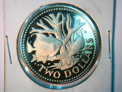 1973 BARBADOS TWO  DOLLAR GEM PROOF  estate sale as found collection