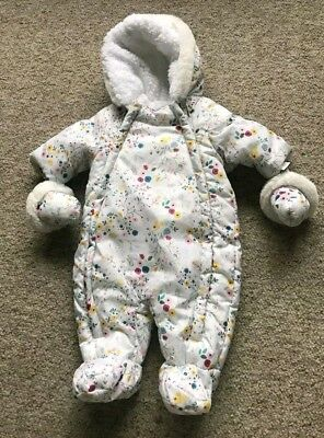 Boots mini club baby girl woodland snowsuit 0-3 months Excellent Condition