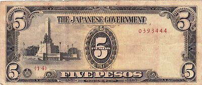 Currency Selection, Japan 5 Pesos