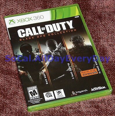 Call of Duty Black Ops TRILOGY Collection (Xbox 360) BRAND NEW! CoD 1 2 3 II III