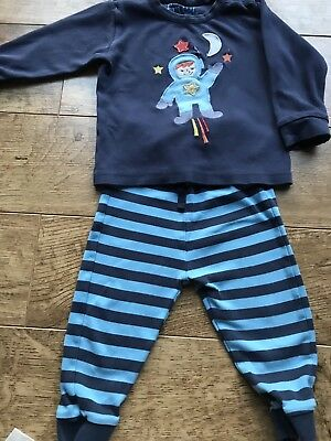 Frugi Organic Cotton Boys Space Pyjamas 12-18 Months