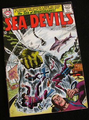 Sea Devils 11 (1963) Life In An Undersea Dome! Lots Of Large Photos! Vg