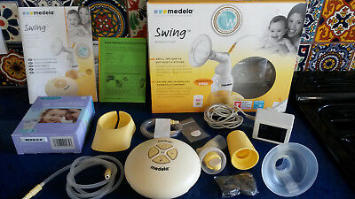Medela Swing 2-phase expression single electric breast pump and accessories