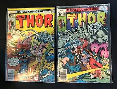 The Might Thor #260 & #261 Marvel Comic Books