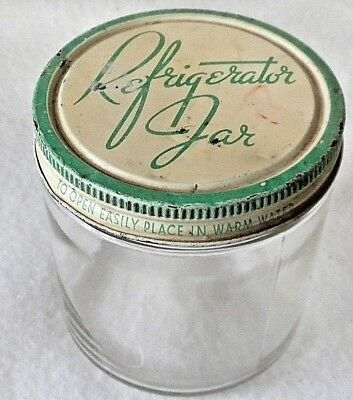Vintage Glass Refrigerator Jar by Ball 5816L, with Lid