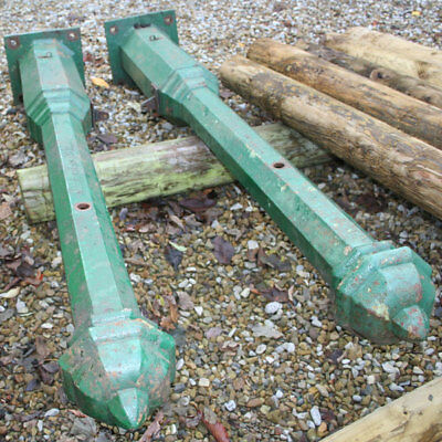 "Architectural Salvage Wrought Iron Gate Posts 75"" - T Green & Sons Ltd Leeds"