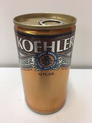 Koehler Pilsner Quality Family Brewing Pull Tab Flat Top Beer Can