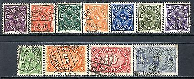 Germany Postage Stamps Scott 185-196, 11-Stamp Used Partial Set!! G1513a