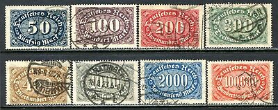 Germany Postage Stamps Scott 198-209, 8-Stamp Used Partial Set!! G1514b