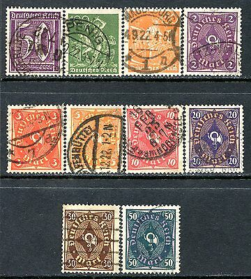 Germany Postage Stamps Scott 167-184, 10-Stamp Used Partial Set!! G1512a