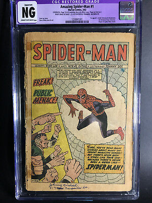 Amazing Spider-Man #1 CGC NG RESTORED / INCOMPLETE